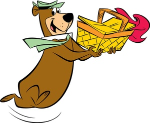 Yogi Bear with picnic basket