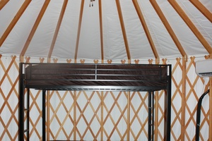 Interior of Yurt with Bunk Bed
